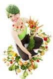 神仙的蔬菜 库存照片