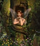 神仙的隐藏处在迷人森林里 库存例证