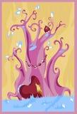 神仙的紫色结构树 库存照片