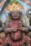 神印度kali雕象 库存图片