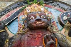 神印度kali雕象 库存照片