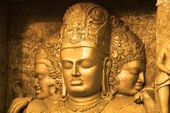 神印第安s雕塑 免版税库存图片