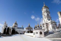 神圣古老基督徒修道院的pochaev 库存照片