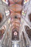 神圣大教堂的重点 是一个哥特式复兴天主教大教堂在广州,中国 库存图片