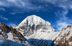 神圣的冈底斯山(海拔6638 m),是T的一部分 库存照片