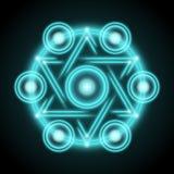 神圣的几何摘要传染媒介例证 免版税库存照片