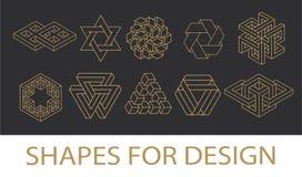 神圣的几何标志收藏 行家,摘要,方术,精神,神秘的元素集 向量例证