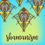 神圣的几何标志 制片者音乐册页盖子的, T恤杉印刷品, boho海报,飞行物设计 占星术,萨满教,宗教 向量例证