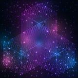 神圣的几何标志 坛场奥秘元素 库存图片