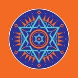 神圣的几何标志 抽象向量模式 神秘的传染媒介徽章 六角形商标 图库摄影