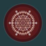 神圣的几何标志 抽象向量模式 神秘的传染媒介徽章 设计要素例证图象向量 免版税库存照片