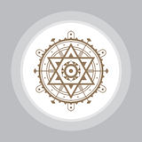 神圣的几何标志 抽象向量模式 神秘的传染媒介徽章 图库摄影
