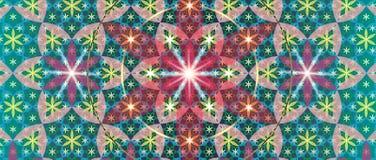 神圣的几何花III 皇族释放例证