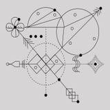 神圣的几何,向量图形设计元素 图库摄影