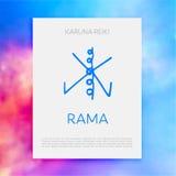 神圣的几何 做的能源强制日本ki寿命意味rei reiki符号二普遍性措辞字 免版税库存图片
