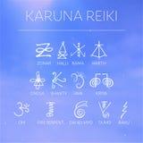 神圣的几何 做的能源强制日本ki寿命意味rei reiki符号二普遍性措辞字 免版税图库摄影