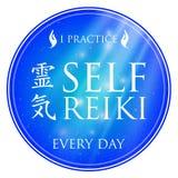 神圣的几何 做的能源强制日本ki寿命意味rei reiki符号二普遍性措辞字 免版税库存照片