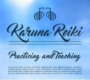 神圣的几何 非传统Reiki标志 词Reiki由两个日本词, Rei做成意味普遍性- Ki手段锂 免版税图库摄影