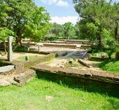 神圣的城市Anuradhapura,斯里南卡的废墟 库存照片
