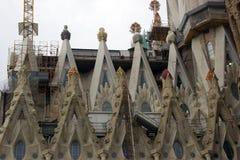 神圣的家庭在巴塞罗那 免版税图库摄影
