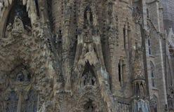 神圣的家庭在巴塞罗那 库存照片