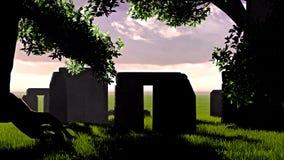 神圣的寺庙在森林里 免版税库存图片
