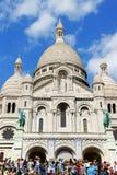 神圣的心脏(Basilique du Sacre-Coeur)的大教堂在巴黎 图库摄影