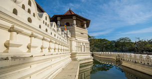神圣的牙遗物的寺庙在康提,斯里兰卡 免版税图库摄影