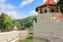 神圣的牙遗物的寺庙,康提,斯里兰卡 免版税库存图片
