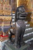 神圣的狮子雕象 免版税库存照片