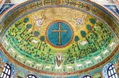 神圣的艺术古老珍宝在拉韦纳 图库摄影