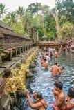 神圣的水寺庙在巴厘岛 免版税库存图片