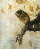 神圣的mudra 免版税库存图片