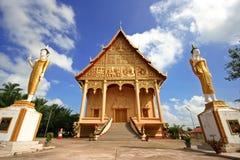 神圣的Wat Luang, Vientiaine,老挝 免版税库存照片