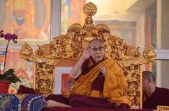 神圣达赖・喇嘛在Bodhgaya,印度 库存照片
