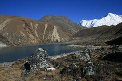 神圣gokyo的湖 库存图片