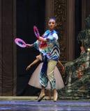 神奇东方妇女第二个行动第二领域糖果王国-芭蕾胡桃钳 库存照片