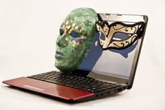 神奇互联网约会 免版税库存图片