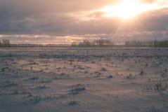 神奇冬天风景 一个剧烈的场面 图库摄影
