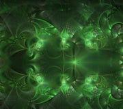 神奇分数维绿色抽象颜色意想不到的背景 库存图片