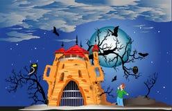 神奇城堡 免版税库存照片