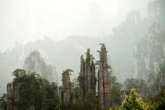 神奇山张家界,湖南在中国 免版税库存图片