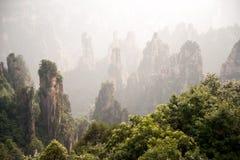 神奇山张家界,湖南在中国 图库摄影