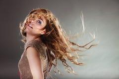 神奇神秘可爱的妇女女孩 免版税图库摄影