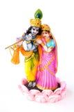神女神印度krishna radha 免版税库存照片