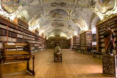 神学图书馆 库存照片