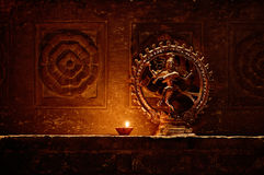神希瓦跳舞的小雕象。印度,乌代浦 免版税图库摄影