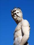神希腊海王星雕象 库存照片