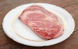 神户牛肉ribeye牛排 图库摄影
