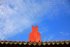 神正式屋顶s台南寺庙战争 免版税库存照片